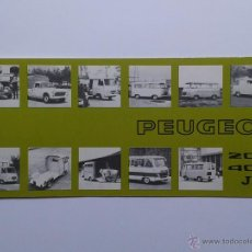 Coches y Motocicletas: PEUGEOT 204 404 J COCHE CATALOGO 1974. Lote 49894959