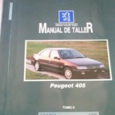 Coches y Motocicletas: PEUGEOT 405 MANUAL DE TALLER, GASOLINA,DIESEL Y TD. GUIA TASACIONES, 2 TOMOS, ENERO 1996. Lote 49989624