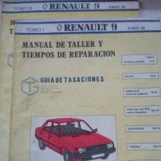 Coches y Motocicletas: RENAULT 9 , MANUAL DE TALLER, GUIA DE TASACIONES, 2 TOMOS, JUNIO 1982. Lote 49995519