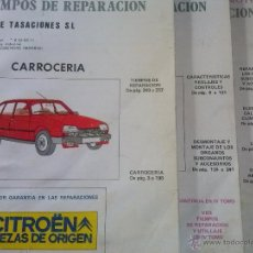 Coches y Motocicletas: CITROEN GSA, MANUAL DE TALLER, , GUIA DE TASACIONES, TOMO II, III Y IV, MAYO Y NOV 1980. Lote 49997041