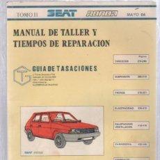 Coches y Motocicletas: MANUAL DE TALLER Y TIEMPOS DE REPARACION. TOMO II. SEAT RONDA. MAYO 1984. Lote 50118742