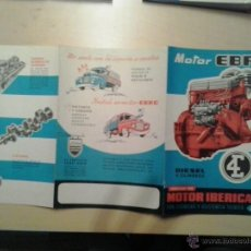 Coches y Motocicletas: PUBLICIDAD MOTOR EBRO. Lote 50154723