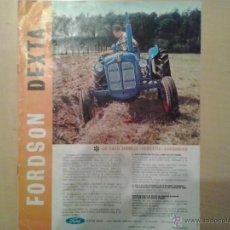 Coches y Motocicletas: PUBLICIDAD TRACTOR FORDSON DEXTA. Lote 50154793