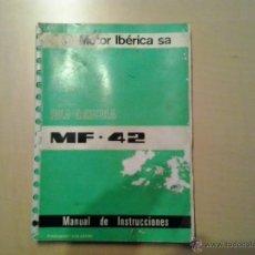 Coches y Motocicletas: MANUAL DE INSTRUCCIONES DE PALA AGRICOLA MASSEY FERGUSON MF-42. Lote 50154909
