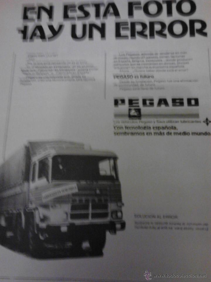 CAMIONES PEGASO, PUBLICIDAD. (Coches y Motocicletas Antiguas y Clásicas - Catálogos, Publicidad y Libros de mecánica)