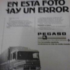 Coches y Motocicletas: CAMIONES PEGASO, PUBLICIDAD.. Lote 50193674