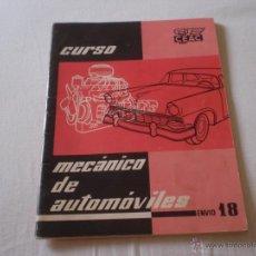 Coches y Motocicletas: CURSO CEAC.CURSO MECANICO DE AUTOMOVILES.Nº 18. 1958.. Lote 50334528