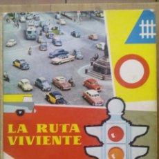 Coches y Motocicletas: ÁLBUM DE CROMOS COMPLETO - LA RUTA VIVIENTE - CHOCOLATES NESTLE 1960. Lote 50338143