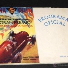 Coches y Motocicletas - PROGRAMA OFICIAL CARRERA INTERNACIONAL IX GRAN PREMIO RHIN VI COPA BARCELONA ESPAÑA PEDRALBES 1948 - 50391956