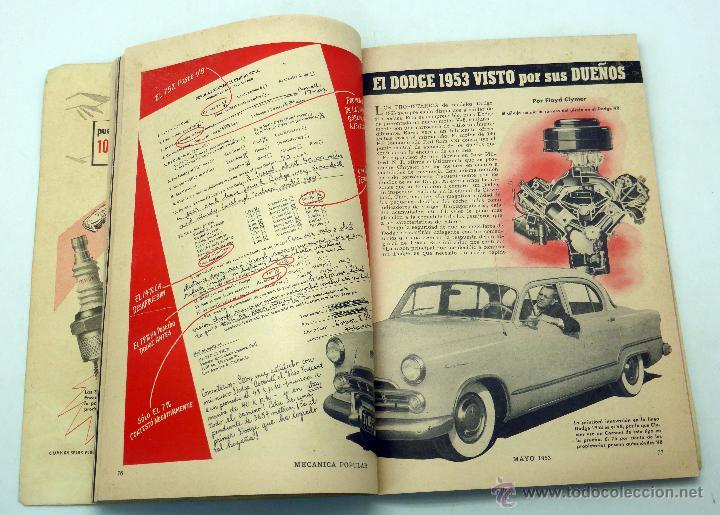 Coches y Motocicletas: Mecánica Popular revista nº 5 Vol 12 Mayo 1953 Caza rayos cósmicos Tv Dodge 53 - Foto 2 - 50527643