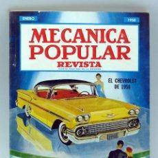 Coches y Motocicletas: MECÁNICA POPULAR REVISTA Nº 1 VOL 22 ENERO 1958 DESFILE AUTOS 1958 CHEVROLET PARQUE WALT DISNEY. Lote 50527738