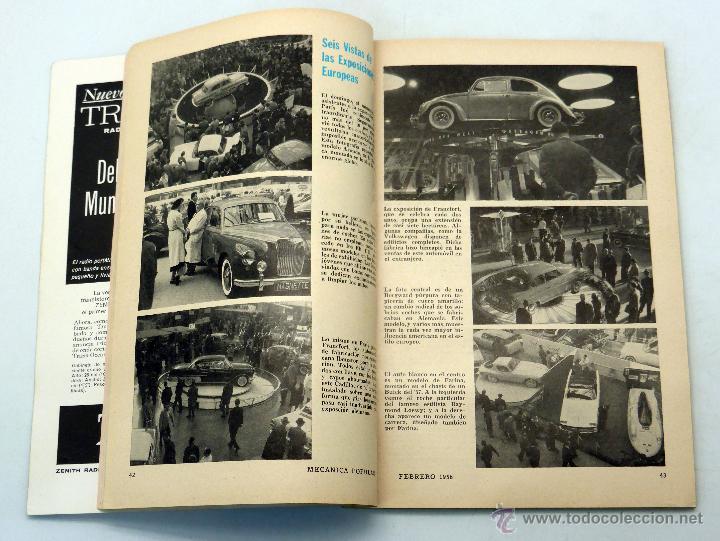 Coches y Motocicletas: Mecánica Popular revista nº 2 Vol 22 Febrero 1958 Automóviles 1958 Fortaleza flotante neumáticos - Foto 2 - 50527788