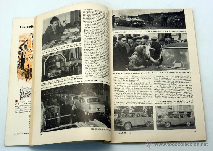 Coches y Motocicletas: Mecánica Popular revista nº 3 Vol 22 Marzo 1958 Chevrolet Ford Plymouth Atomium - Foto 2 - 50527843