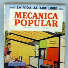 Coches y Motocicletas: MECÁNICA POPULAR REVISTA Nº 6 VOL 26 JUNIO 1960 FALCON PATIOS CUBIERTOS BARBACOA ELECTRÓNICA . Lote 50528781