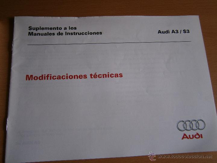 Coches y Motocicletas: manual de uso y entreteimiento mas anexo de actualizaciones audi a3 98 - Foto 4 - 50671157