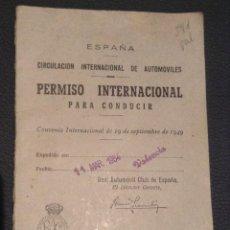 Coches y Motocicletas: PERMISO INTERNACIONAL PARA CONDUCIR DE 1964. Lote 50694801