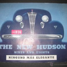 Coches y Motocicletas: THE NEW HUDSON - CATALOGO AÑO 1936 - (V- 2000). Lote 50733068