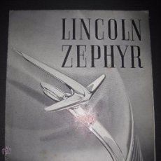 Coches y Motocicletas: LINCOLN ZEPHYR - CATALOGO - DESPLEGABLE - (V- 2001). Lote 50733095