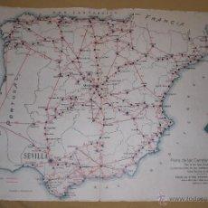 Coches y Motocicletas: MAPA DE CARRETERAS ESPAÑA Y ANDALUCIA ACA 1924. Lote 50735002