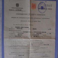 Coches y Motocicletas - documentos compra motocicleta montesa castellon 9 septiembre 1952 - 50967152