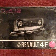 Coches y Motocicletas: MANUAL DE USO RENAULT 4L. Lote 50976042