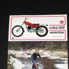 Coches y Motocicletas: CATALOGO LAMINA COTA 247 MONTESA. Lote 50996589