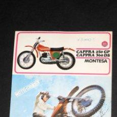 Coches y Motocicletas: CATALOGO LAMINA CAPPRA 250 GP 360 DS MONTESA. Lote 50996908