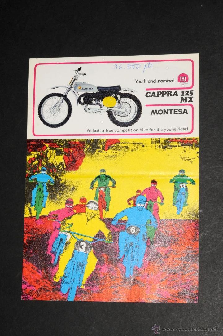 CATALOGO LAMINA MONTESA CAPPRA 125 MX (Coches y Motocicletas Antiguas y Clásicas - Catálogos, Publicidad y Libros de mecánica)