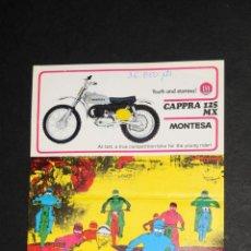 Coches y Motocicletas: CATALOGO LAMINA MONTESA CAPPRA 125 MX. Lote 50997055