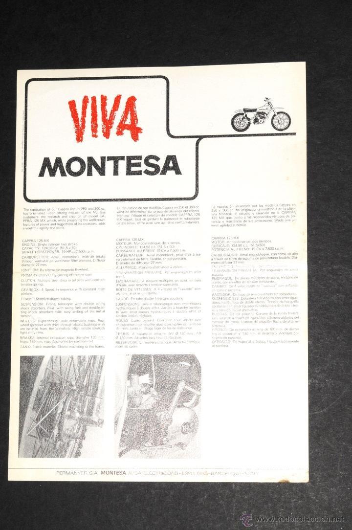 Coches y Motocicletas: CATALOGO LAMINA MONTESA CAPPRA 125 MX - Foto 2 - 237379275