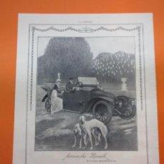 Coches y Motocicletas: PUBLICIDAD 1914 - COLECCION COCHES - AUTOMOVILES RENAULT PROVEEDOR DE LA REAL CASA. Lote 51061002