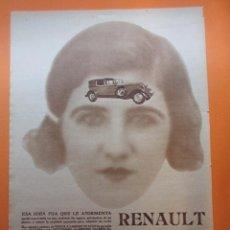 Coches y Motocicletas: PUBLICIDAD 1929 - COLECCION COCHES - RENAULT. Lote 51072155