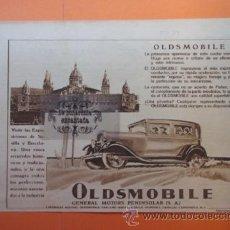 Coches y Motocicletas: PUBLICIDAD 1929 - COLECCION COCHES - OLDSMOBILE GENERAL MOTORS PENINSULAR EXPOSICION BARCELONA . Lote 51072194