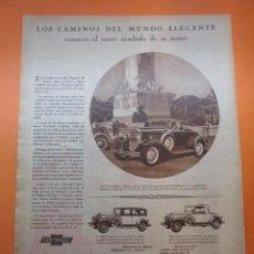 Coches y Motocicletas: PUBLICIDAD 1931 - COLECCION COCHES - EL NUEVO CHEVROLET 6 GENERAL MOTORS . Lote 150226126