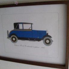 Coches y Motocicletas: ANTIGUA LAMINA CITROEN B14 G CABRIOLET -1928-. Lote 51173943