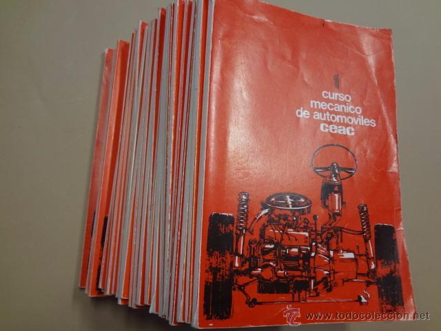CURSO MECANICO AUTOMOVILES DE CEAC - 30 TOMOS - COMPLETO - CAR91 (Coches y Motocicletas Antiguas y Clásicas - Catálogos, Publicidad y Libros de mecánica)