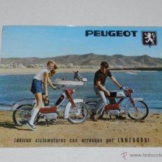 Coches y Motocicletas: CATALOGO MOTOCICLETA PEUGEOT 49CC , 1 PAG, ILUSTRADO, BUEN ESTADO. Lote 51228044