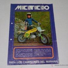 Coches y Motocicletas - CATALOGO MOTOCICLETA MECATECNO , 30 X 21 CM, 1 PAG, SEÑALES DE USO - 51228386