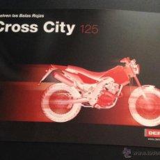 Coches y Motocicletas: CATALOGO CROSS CITY 125 BALAS ROJAS DERBI . Lote 51246965
