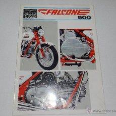 Coches y Motocicletas: CATALOGO MOTOCICLETA MOTO GUZZI FALCONE 500, 1 PAG, ILUSTRADA POR LAS DOS BANDAS. Lote 51316039