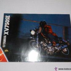 Coches y Motocicletas: CATALOGO MOTOCICLETA YAMAHA XV 750 SE, 4 PAG, ILUSTRADO, 30 X 21 CM, BUEN ESTADO. Lote 51316166
