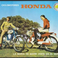 Coches y Motocicletas: CICLOMOTORES HONDA.FOLLETO PUBLICITARIO CON CARACTERISTICAS TÉCNICAS.AÑOS 70.. Lote 51328456