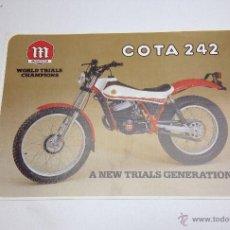 Coches y Motocicletas: MONTESA COTA 242 FOLLETO PUBLICITARIO ORIGINAL 1983. Lote 51402613