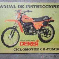 Coches y Motocicletas: MANUAL INSTRUCCIONES ORIGINAL CICLOMOTOR DERBI CX YUMBO 1981. Lote 51433094