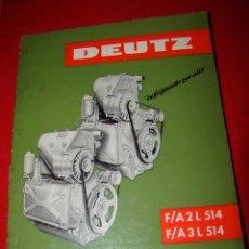 Coches y Motocicletas - Manual de instrucciones de servicio motor DEUTZ F/A 2L 514 - F/A 3 L 514 - 154838528