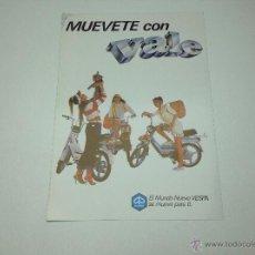 Coches y Motocicletas: FOLLETO PUBLICITARIO MOTO VESPA , VALE ORIGINAL. Lote 51716045