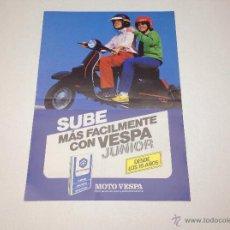Coches y Motocicletas: FOLLETO PUBLICITARIO MOTO VESPA VESPA JUNIOR ORIGINAL. Lote 51716235