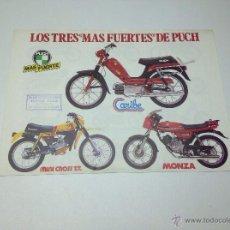 Carros e motociclos: FOLLETO PUBLICITARIO PUCH LOS TRES MAS FUERTES ORIGINAL. Lote 51716997