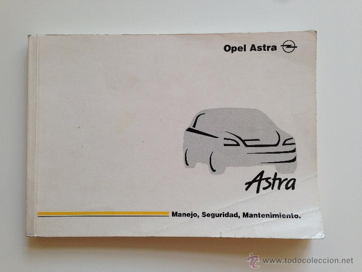 Manual Instrucciones Opel Astra Coche