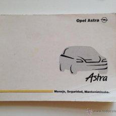 Coches y Motocicletas: MANUAL INSTRUCCIONES USUARIO OPEL ASTRA G 1999. Lote 117339306